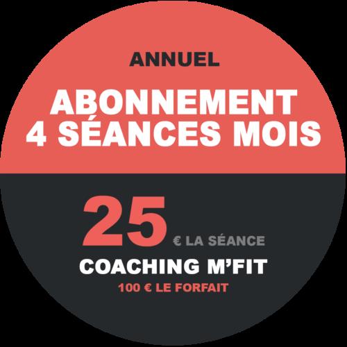 Abonnement 4 séances annuel M'Fit studios fitness Miha bodytec