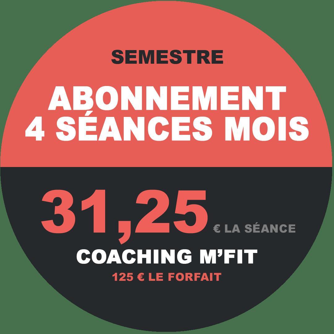 Abonnement 4 séances semestre M'Fit studios fitness Miha bodytec