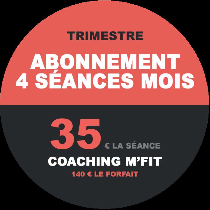 Abonnement 4 séances trimestriel M'Fit studios fitness Miha bodytec