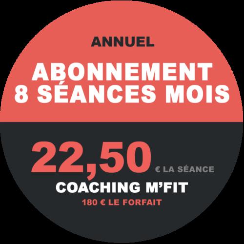 Abonnement 8 séances annuel M'Fit studios fitness Miha bodytec