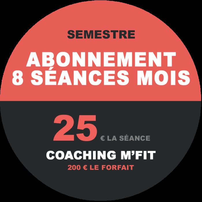 Abonnement 8 séances semestre M'Fit studios fitness Miha bodytec
