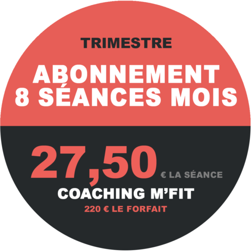 Abonnement 8 séances trimestre M'Fit studios fitness Miha bodytec