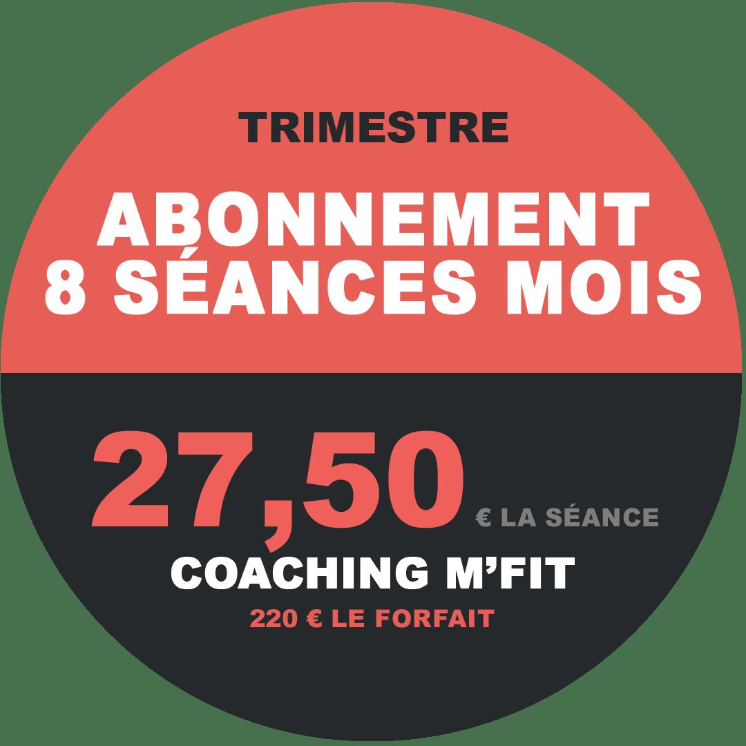 Abonnement 8 séances trimestre M'Fit studios fitness Miha bodytec